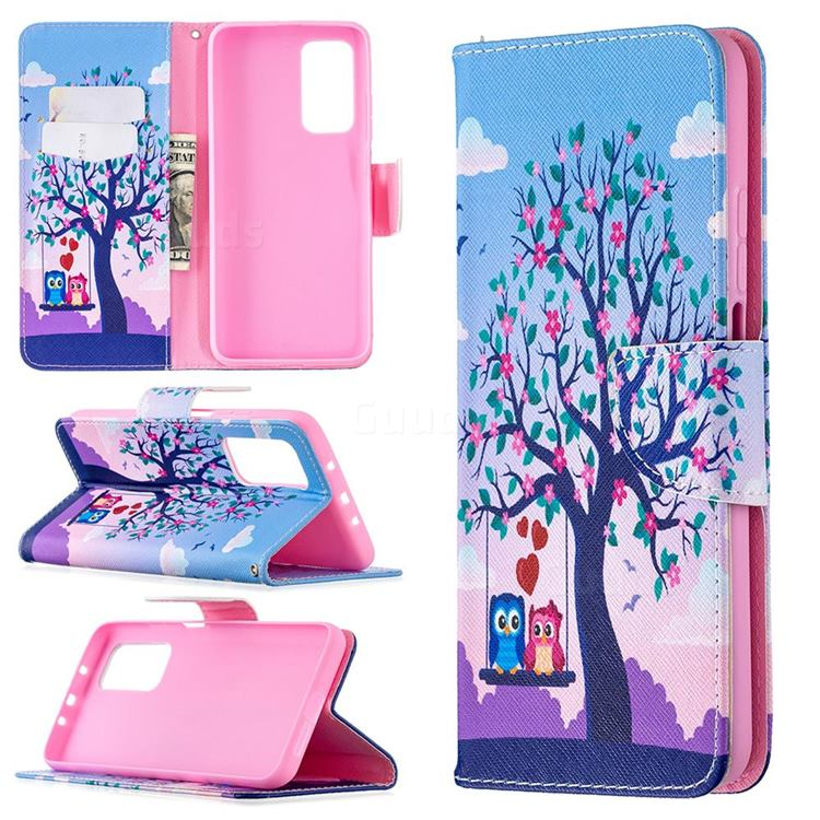 Tree and Owls Leather Wallet Case for Xiaomi Mi 10T / 10T Pro 5G