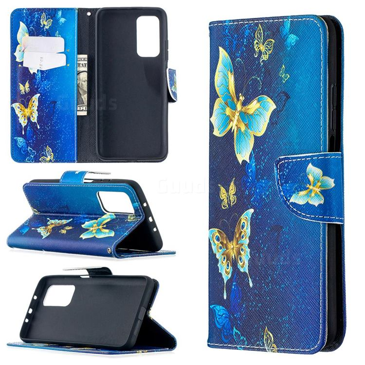 Golden Butterflies Leather Wallet Case for Xiaomi Mi 10T / 10T Pro 5G