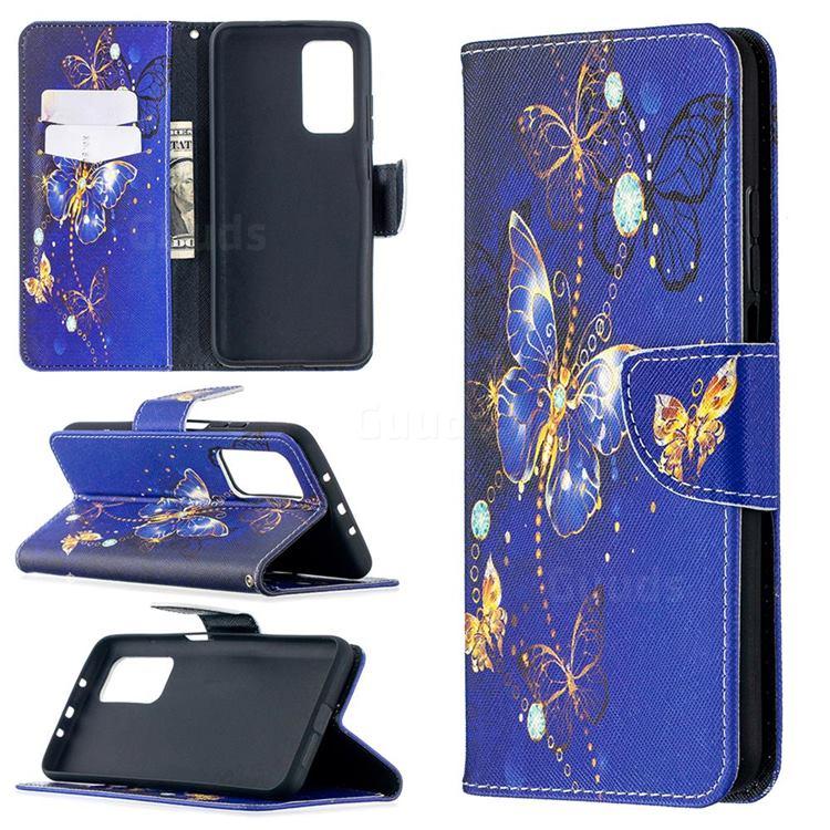 Purple Butterfly Leather Wallet Case for Xiaomi Mi 10T / 10T Pro 5G
