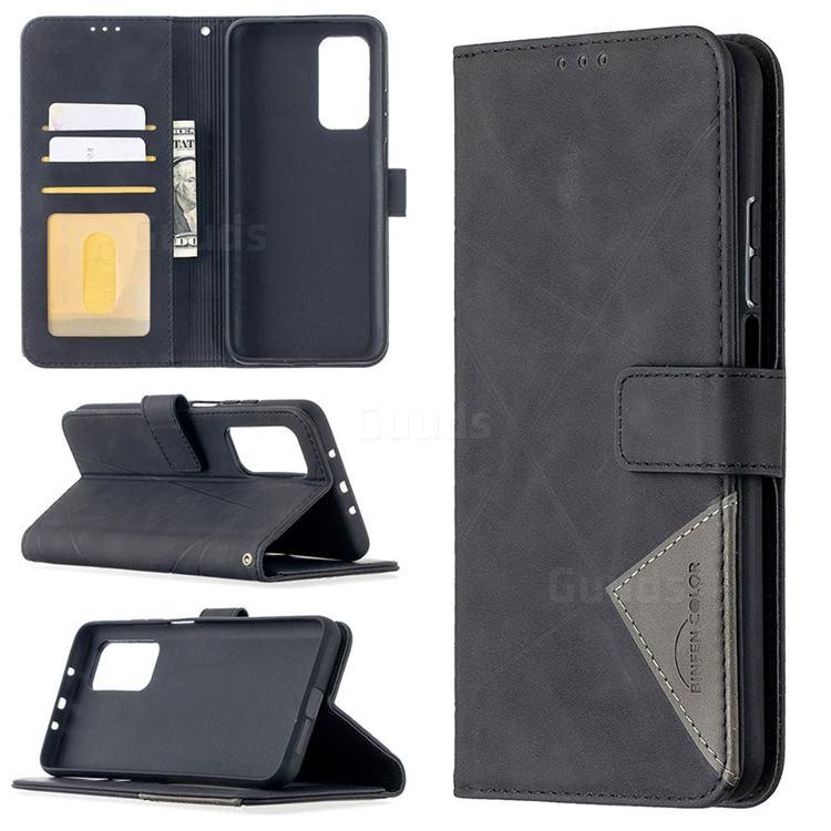Binfen Color BF05 Prismatic Slim Wallet Flip Cover for Xiaomi Mi 10T / 10T Pro 5G - Black