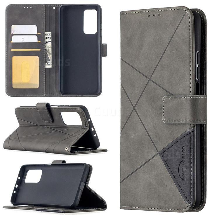 Binfen Color BF05 Prismatic Slim Wallet Flip Cover for Xiaomi Mi 10T / 10T Pro 5G - Gray
