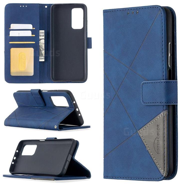 Binfen Color BF05 Prismatic Slim Wallet Flip Cover for Xiaomi Mi 10T / 10T Pro 5G - Blue