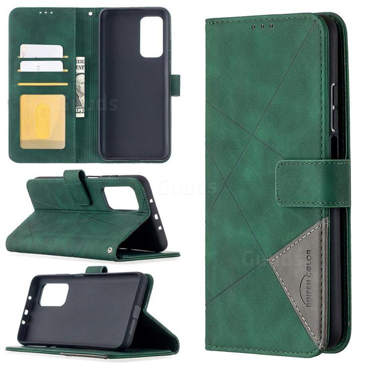 Binfen Color BF05 Prismatic Slim Wallet Flip Cover for Xiaomi Mi 10T / 10T Pro 5G - Green