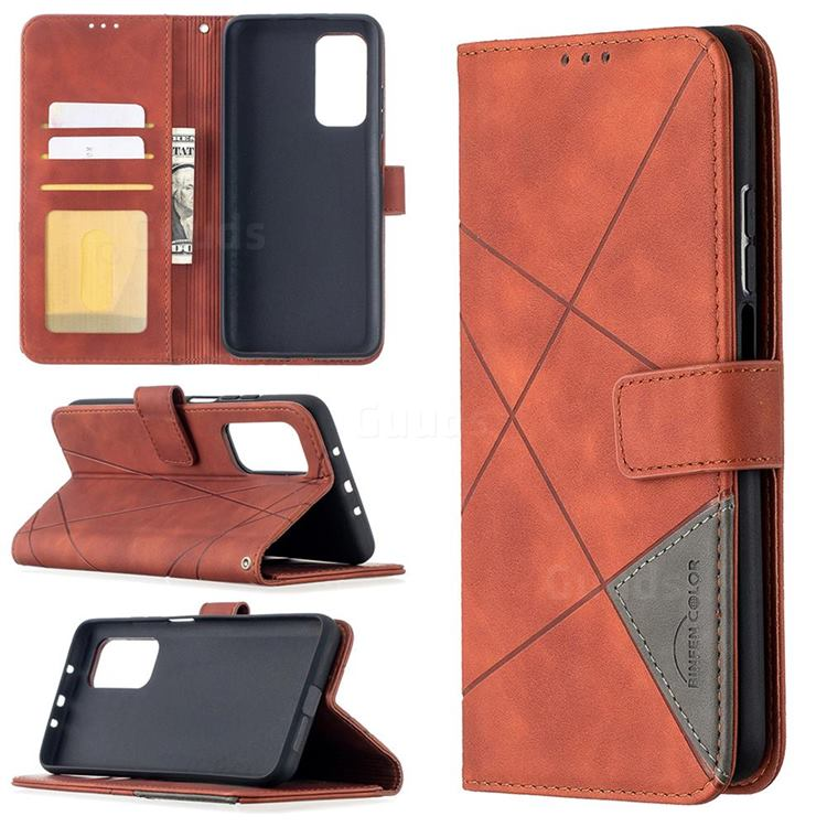 Binfen Color BF05 Prismatic Slim Wallet Flip Cover for Xiaomi Mi 10T / 10T Pro 5G - Brown