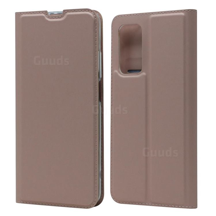 Ultra Slim Card Magnetic Automatic Suction Leather Wallet Case for Xiaomi Mi 10T / 10T Pro 5G - Rose Gold