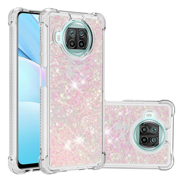 Dynamic Liquid Glitter Sand Quicksand TPU Case for Xiaomi Mi 10T Lite 5G - Silver Powder Star