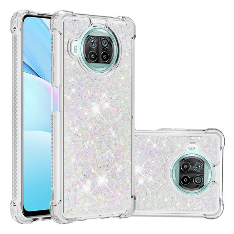 Dynamic Liquid Glitter Sand Quicksand Star TPU Case for Xiaomi Mi 10T Lite 5G - Pink