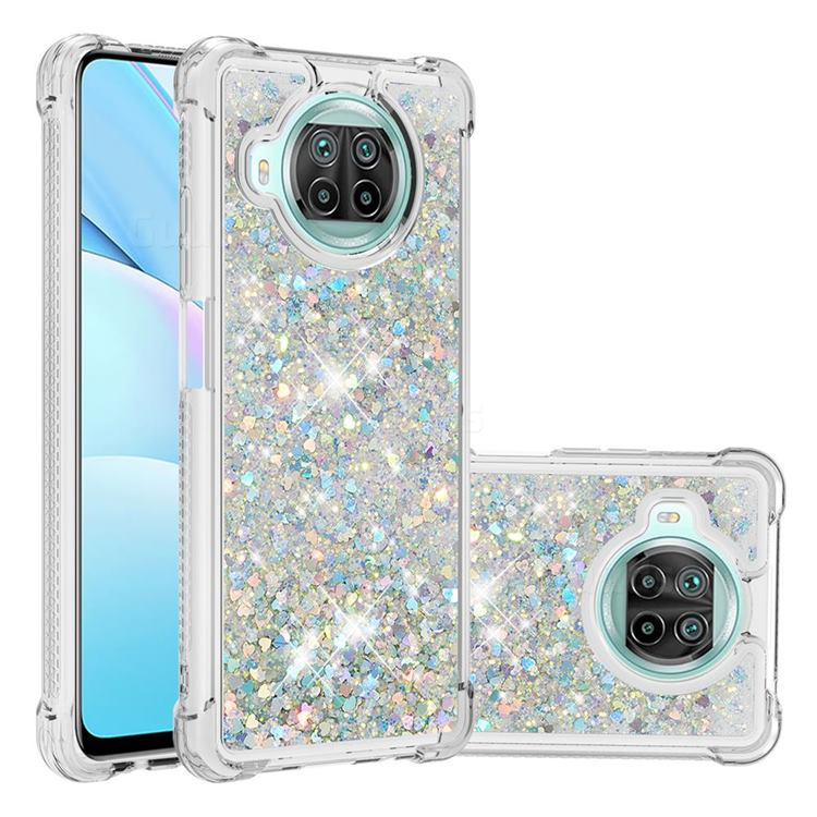 Dynamic Liquid Glitter Sand Quicksand Star TPU Case for Xiaomi Mi 10T Lite 5G - Silver