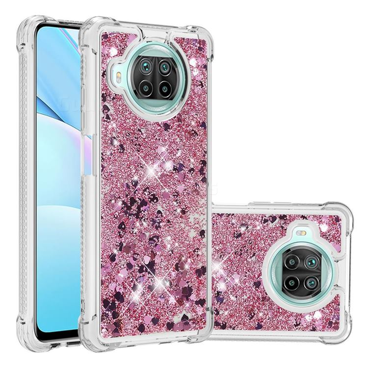 Dynamic Liquid Glitter Sand Quicksand Star TPU Case for Xiaomi Mi 10T Lite 5G - Diamond Rose