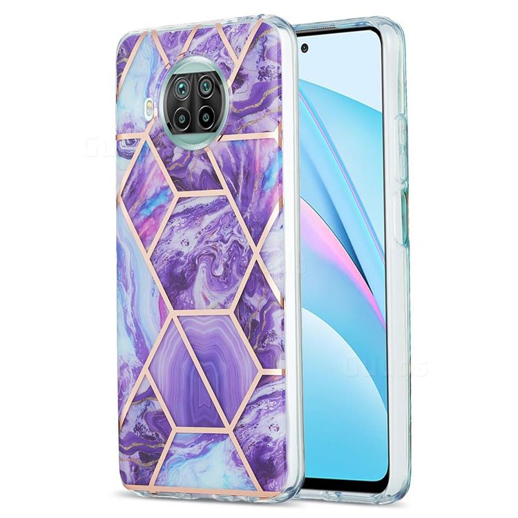 Purple Gagic Marble Pattern Galvanized Electroplating Protective Case Cover for Xiaomi Mi 10T Lite 5G