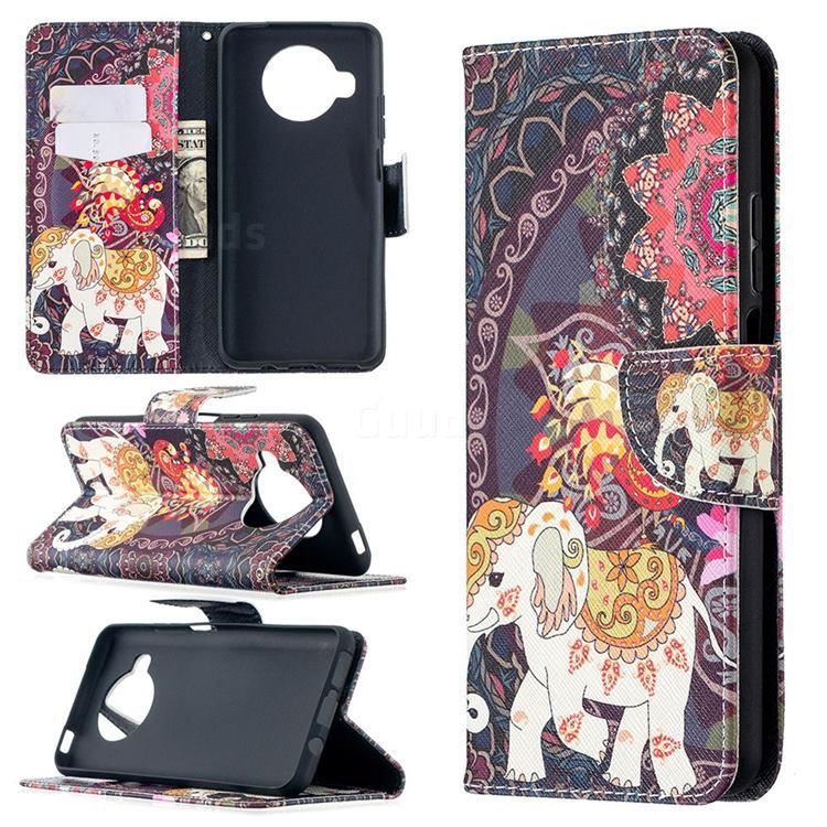 Totem Flower Elephant Leather Wallet Case for Xiaomi Mi 10T Lite 5G
