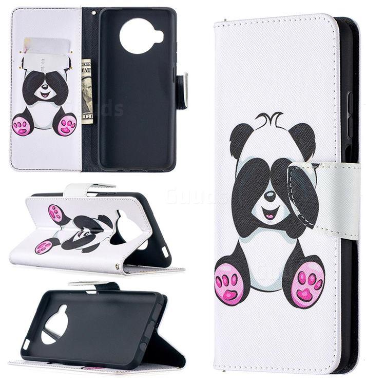Lovely Panda Leather Wallet Case for Xiaomi Mi 10T Lite 5G