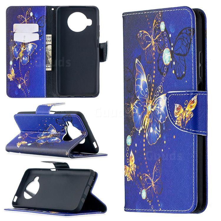 Purple Butterfly Leather Wallet Case for Xiaomi Mi 10T Lite 5G