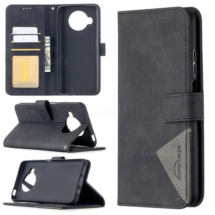 Binfen Color BF05 Prismatic Slim Wallet Flip Cover for Xiaomi Mi 10T Lite 5G - Black