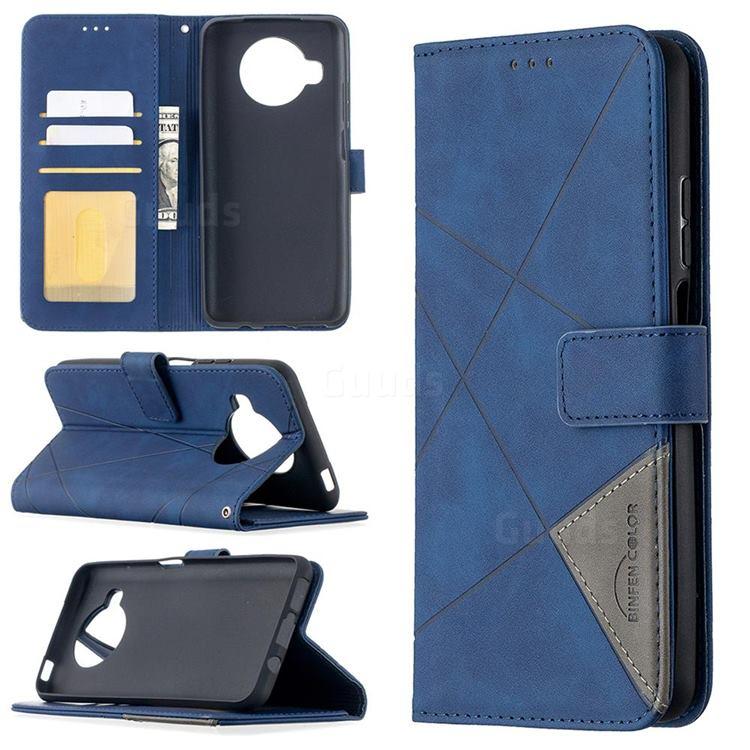 Binfen Color BF05 Prismatic Slim Wallet Flip Cover for Xiaomi Mi 10T Lite 5G - Blue