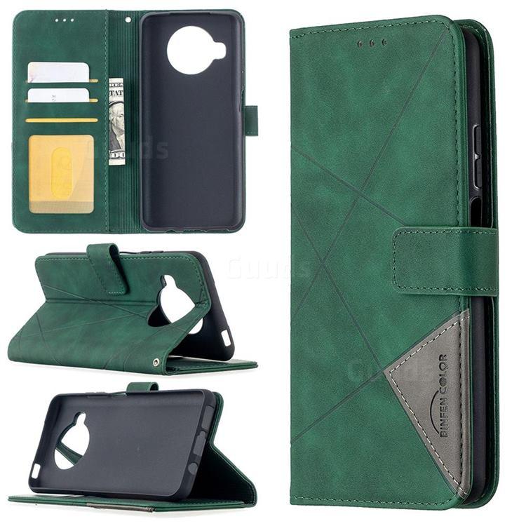 Binfen Color BF05 Prismatic Slim Wallet Flip Cover for Xiaomi Mi 10T Lite 5G - Green