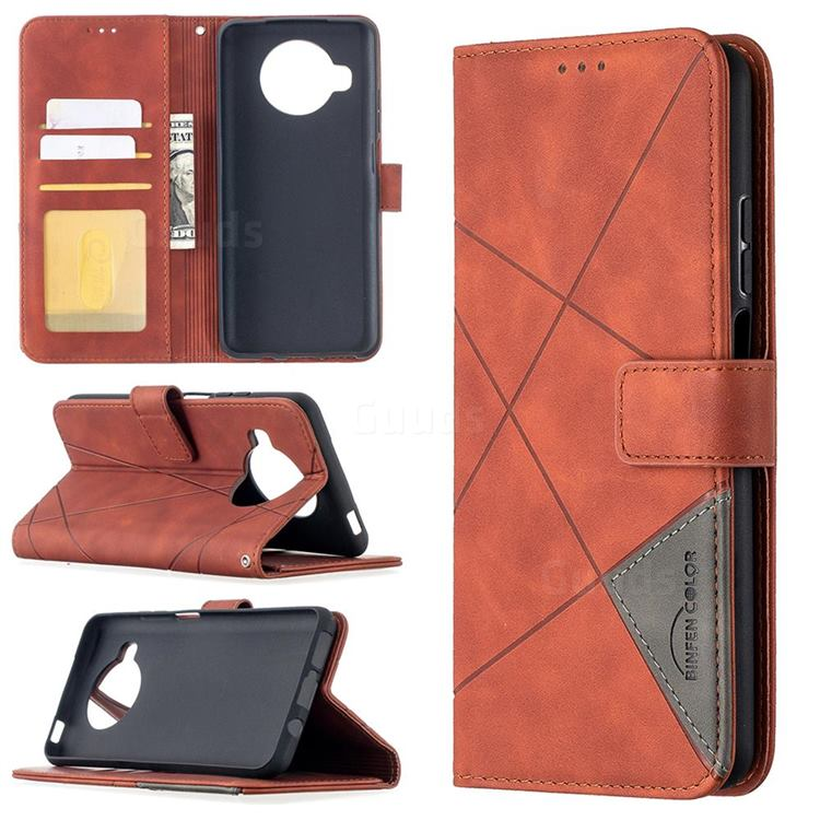 Binfen Color BF05 Prismatic Slim Wallet Flip Cover for Xiaomi Mi 10T Lite 5G - Brown