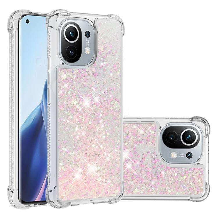 Dynamic Liquid Glitter Sand Quicksand TPU Case for Xiaomi Mi 11 - Silver Powder Star
