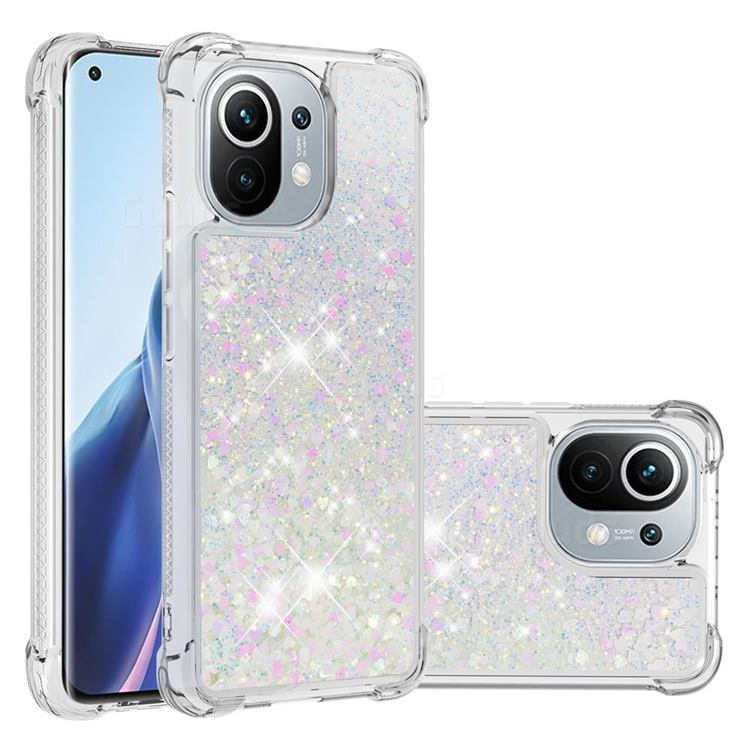 Dynamic Liquid Glitter Sand Quicksand Star TPU Case for Xiaomi Mi 11 - Pink