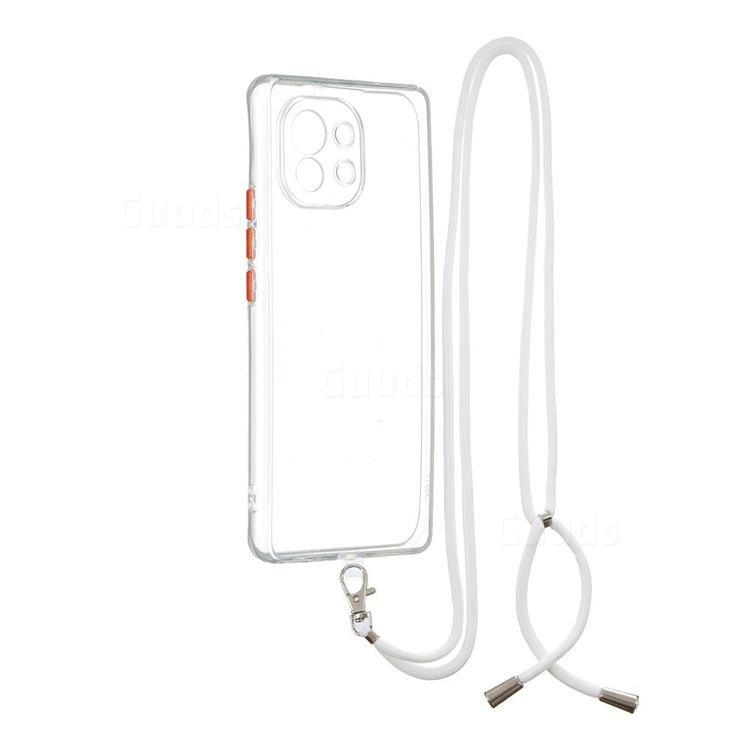Necklace Cross-body Lanyard Strap Cord Phone Case Cover for Xiaomi Mi 11 - Transparent
