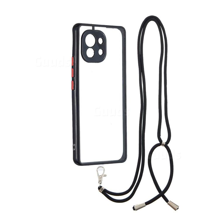 Necklace Cross-body Lanyard Strap Cord Phone Case Cover for Xiaomi Mi 11 - Black