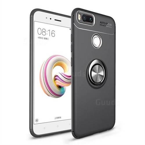 Auto Focus Invisible Ring Holder Soft Phone Case for Xiaomi Mi A1 / Mi 5X - Black