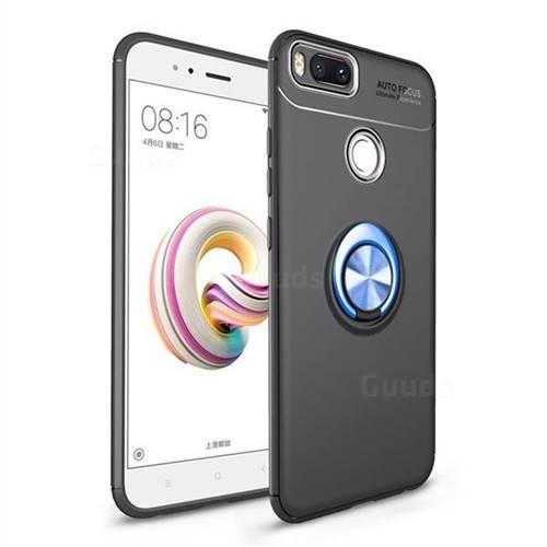 Auto Focus Invisible Ring Holder Soft Phone Case for Xiaomi Mi A1 / Mi 5X - Black Blue