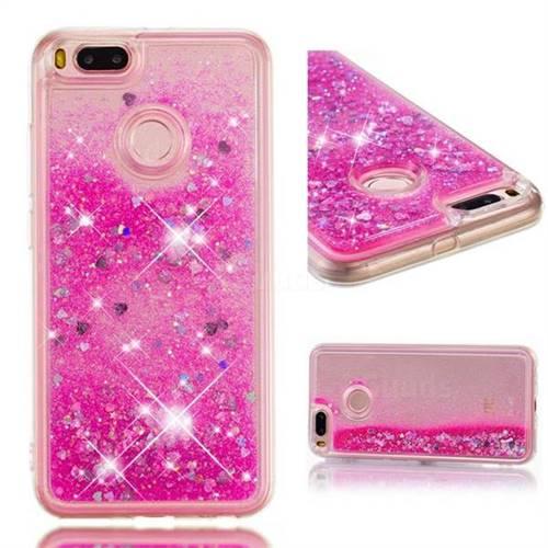 Dynamic Liquid Glitter Quicksand Sequins TPU Phone Case for Xiaomi Mi A1 / Mi 5X - Rose