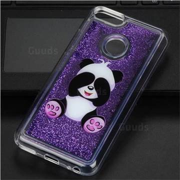 Naughty Panda Glassy Glitter Quicksand Dynamic Liquid Soft Phone Case for Xiaomi Mi A1 / Mi 5X