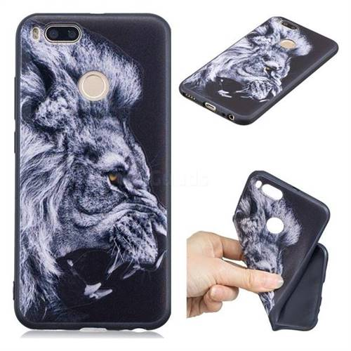 outlet store 9c402 e40d4 Lion 3D Embossed Relief Black TPU Cell Phone Back Cover for Xiaomi Mi A1 /  Mi 5X