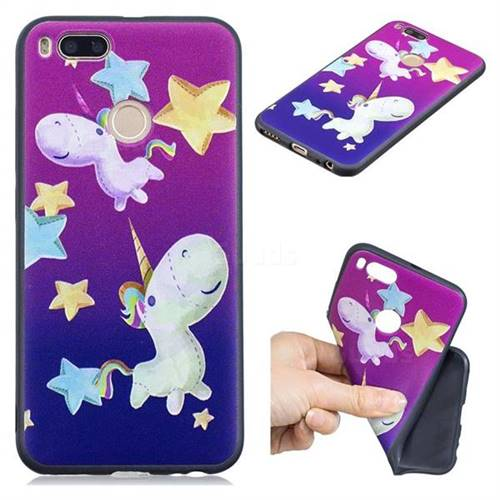 Pony 3D Embossed Relief Black TPU Cell Phone Back Cover for Xiaomi Mi A1 / Mi 5X