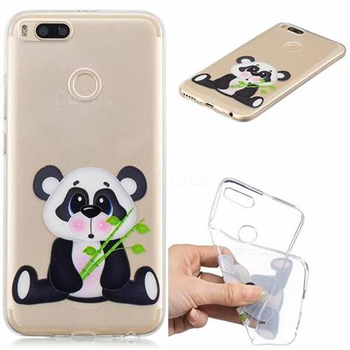 Bamboo Panda Clear Varnish Soft Phone Back Cover for Xiaomi Mi A1 / Mi 5X