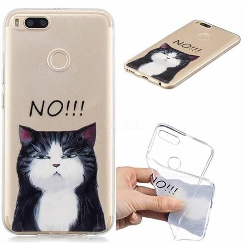 No Cat Clear Varnish Soft Phone Back Cover for Xiaomi Mi A1 / Mi 5X