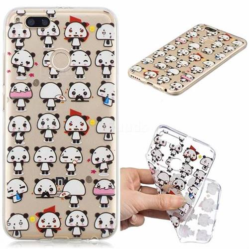 Mini Panda Clear Varnish Soft Phone Back Cover for Xiaomi Mi A1 / Mi 5X