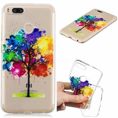 Oil Painting Tree Clear Varnish Soft Phone Back Cover for Xiaomi Mi A1 / Mi 5X