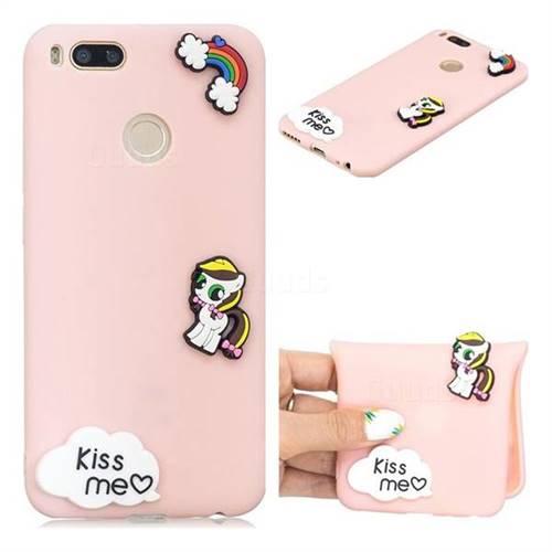 Kiss me Pony Soft 3D Silicone Case for Xiaomi Mi A1 / Mi 5X