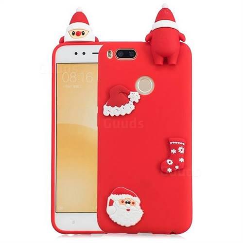 Red Santa Claus Christmas Xmax Soft 3D Silicone Case for Xiaomi Mi A1 / Mi 5X