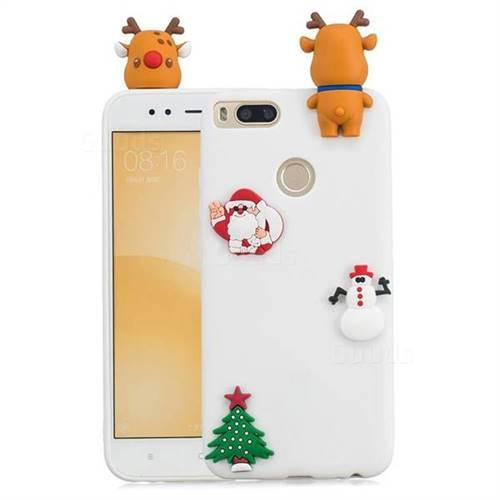 White Elk Christmas Xmax Soft 3D Silicone Case for Xiaomi Mi A1 / Mi 5X