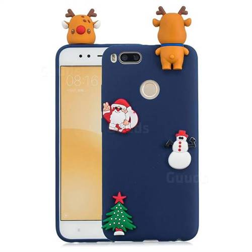Navy Elk Christmas Xmax Soft 3D Silicone Case for Xiaomi Mi A1 / Mi 5X