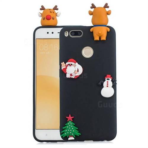 Black Elk Christmas Xmax Soft 3D Silicone Case for Xiaomi Mi A1 / Mi 5X