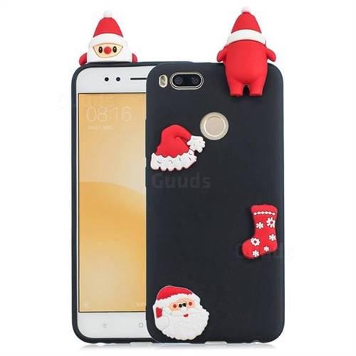 Black Santa Claus Christmas Xmax Soft 3D Silicone Case for Xiaomi Mi A1 / Mi 5X