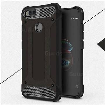 King Kong Armor Premium Shockproof Dual Layer Rugged Hard Cover for Xiaomi Mi A1 / Mi 5X - Black Gold