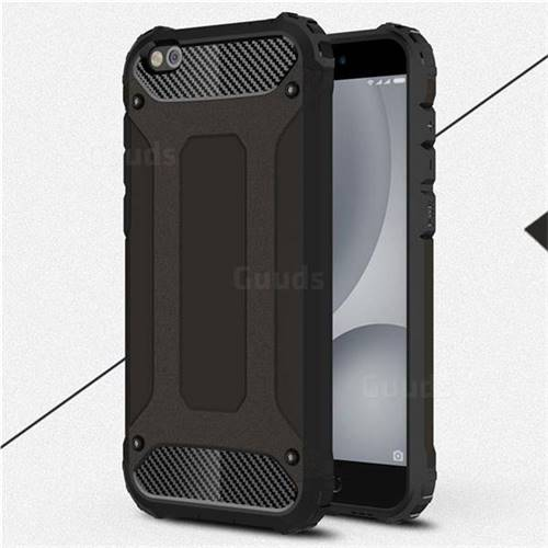 King Kong Armor Premium Shockproof Dual Layer Rugged Hard Cover for Xiaomi Mi 5c - Black Gold