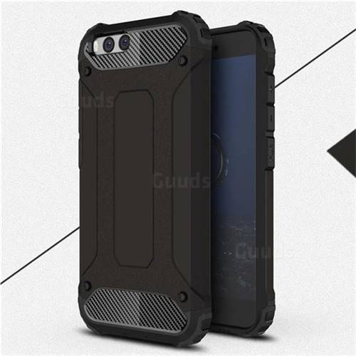 King Kong Armor Premium Shockproof Dual Layer Rugged Hard Cover for Xiaomi Mi 6 Mi6 - Black Gold