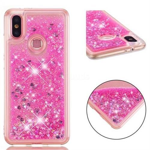 Dynamic Liquid Glitter Quicksand Sequins TPU Phone Case for Xiaomi Mi A2 (Mi 6X) - Rose