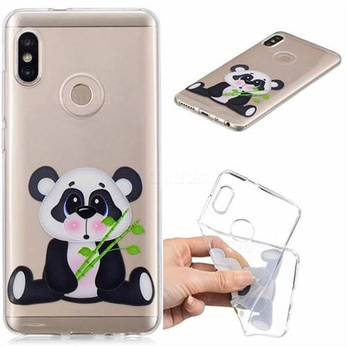 Bamboo Panda Clear Varnish Soft Phone Back Cover for Xiaomi Mi A2 (Mi 6X)
