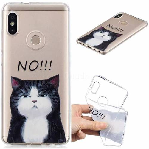 No Cat Clear Varnish Soft Phone Back Cover for Xiaomi Mi A2 (Mi 6X)
