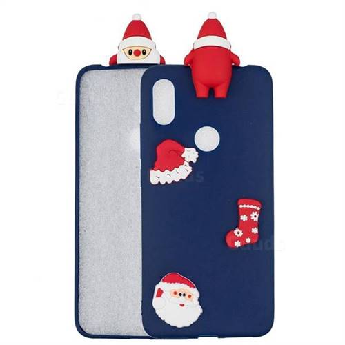 Navy Santa Claus Christmas Xmax Soft 3D Silicone Case for Xiaomi Mi A2 (Mi 6X)