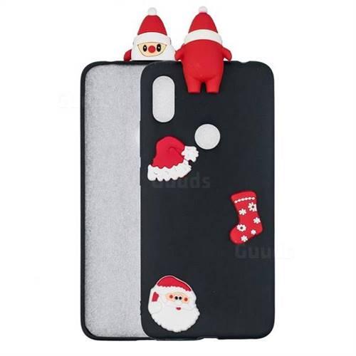 Black Santa Claus Christmas Xmax Soft 3D Silicone Case for Xiaomi Mi A2 (Mi 6X)