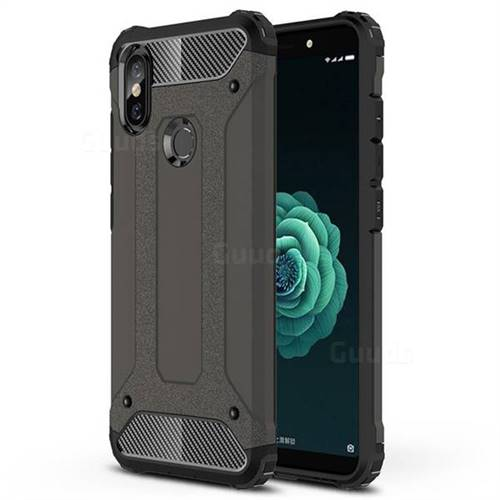 King Kong Armor Premium Shockproof Dual Layer Rugged Hard Cover for Xiaomi Mi A2 (Mi 6X) - Bronze